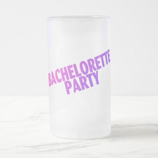 Bachelorette Party Pink Purple Blue Mugs