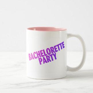 Bachelorette Party Pink Purple Blue Two-Tone Coffee Mug