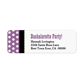 BACHELORETTE PARTY Polka Dot Pattern BS13 Return Address Label