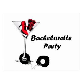 Bachelorette Party Red Postcard