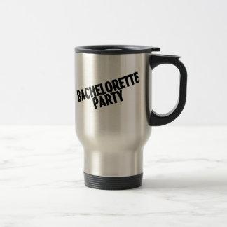 Bachelorette Party (Slanted Black) 15 Oz Stainless Steel Travel Mug