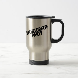 Bachelorette Party Slanted Black Coffee Mugs