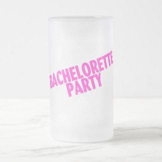 Bachelorette Party Slanted Pink Mug