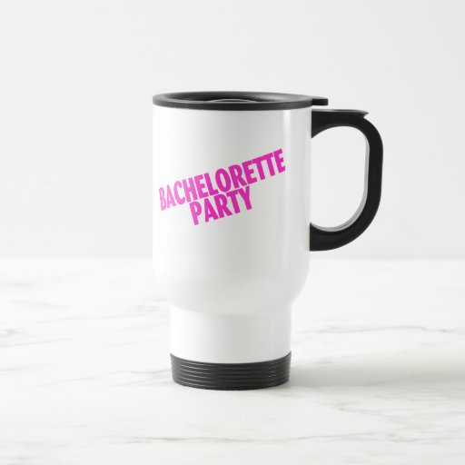 Bachelorette Party (Slanted Pink) Coffee Mug
