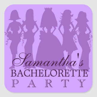 Bachelorette party sticker