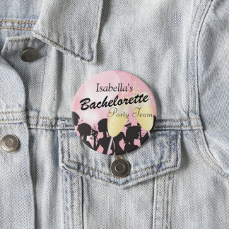 Bachelorette Party Team -  DIY Color 3 Inch Round Button