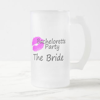 Bachelorette Party The Bride Frosted Glass Mug