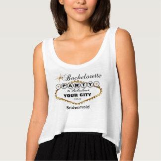 Bachelorette Party Vegas Style - Gold Tank Top