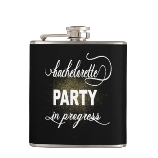Bachelorette Party Vinyl Wrapped Flask