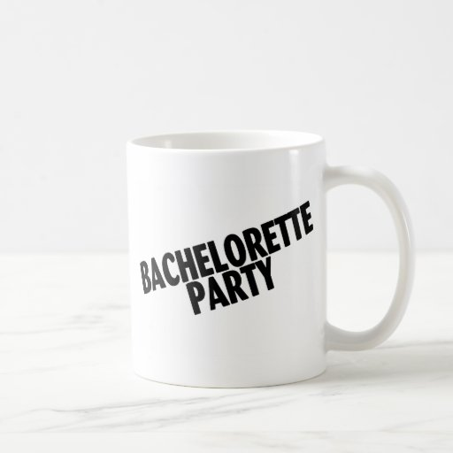 Bachelorette Party Wedding Black Coffee Mugs