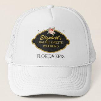 Bachelorette Party Weekend Destination   Pink Rose Trucker Hat