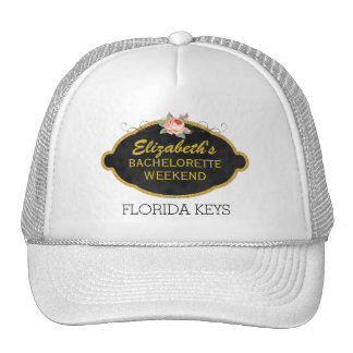 Bachelorette Party Weekend Destination | Pink Rose Trucker Hat