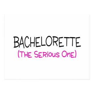 Bachelorette The Serious One Postcard