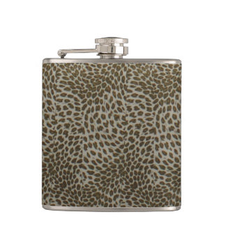bachelorette wedding shower birthday leopard hip flask