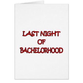 Bachelorhood Card