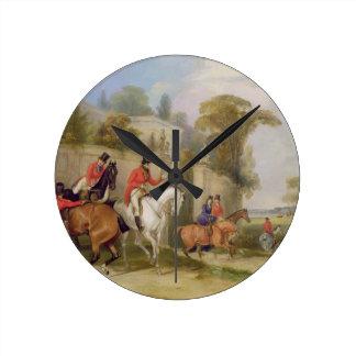 Bachelor's Hall, The Meet, 1835 (oil on canvas) Clocks
