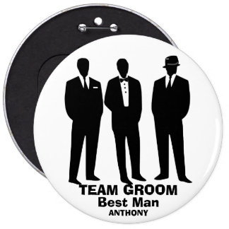 Bachelors night out 6 inch round button