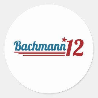 Bachmann '12 round sticker