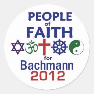 Bachmann Faith 2012 Round Sticker