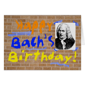 Bach's Birthday Card