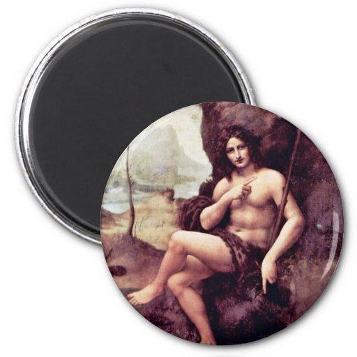Bachus By Leonardo Da Vinci (Best Quality) Magnets