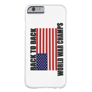 Back 2 Back World War Champs US Flag iPhone 6 case