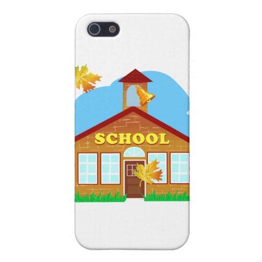BACK 2 SCHOOL 179252011 CARTOON BUILDING Preschool iPhone 5 Case