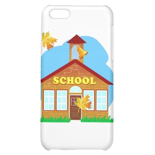 BACK 2 SCHOOL 179252011 CARTOON BUILDING Preschool iPhone 5C Covers