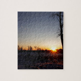 Back 40 Sunset Jigsaw Puzzle