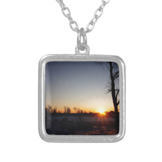 Back 40 Sunset Silver Plated Necklace