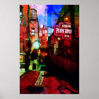 Back alley bridge poster