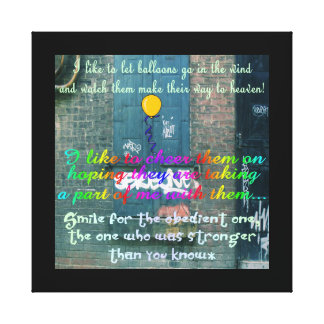 Back Alley Girl Stretched Canvas Prints