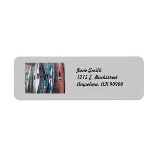 Back Alley Kayaks Return Address Label