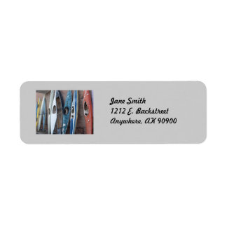 Back Alley Kayaks Return Address Label