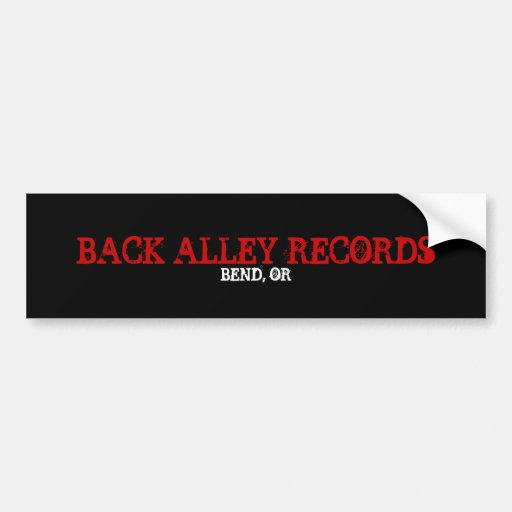 BACK ALLEY RECORDS, BEND, OR BUMPER STICKERS