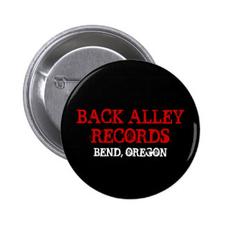 BACK ALLEY RECORDS, BEND, OREGON PINBACK BUTTON
