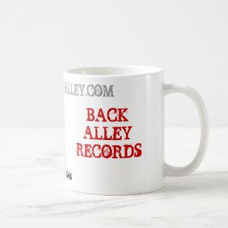 BACK ALLEY RECORDS, BEND, OREGON, WWW.GOBACKALL... CLASSIC WHITE COFFEE MUG