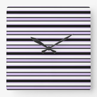 Back and Forth Black and Lavender Wallclock