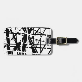Back and white lines - design by Moma Luggage Tag