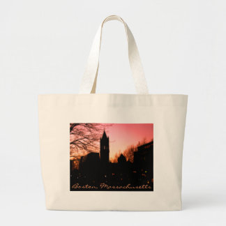 Back Bay Sunset Large Tote Bag