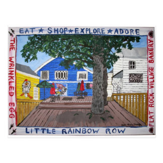 Back Deck of Little Rainbow Row in Flat Rock NC Postcard