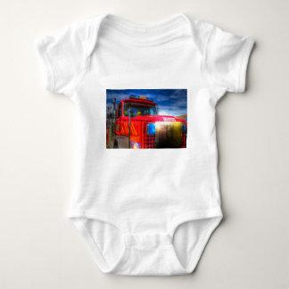Back Draft Fire Truck Baby Bodysuit