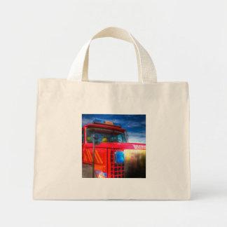 Back Draft Fire Truck Mini Tote Bag