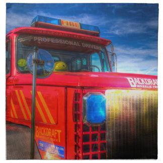 Back Draft Fire Truck Napkin