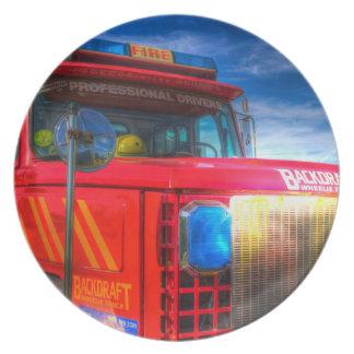Back Draft Fire Truck Plate