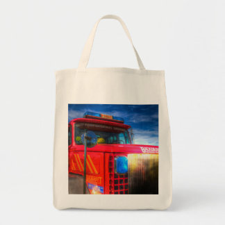 Back Draft Fire Truck Tote Bag