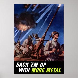 Back 'Em Up With More Metal Poster