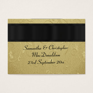 Back, gold wedding favor thank you tag business card