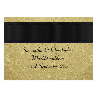 Back, gold wedding favor thank you tag pack of chubby business cards