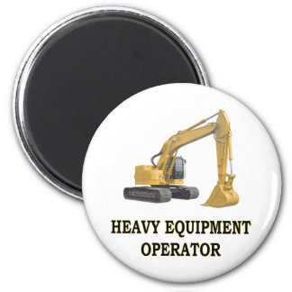 BACK HOE 2 INCH ROUND MAGNET